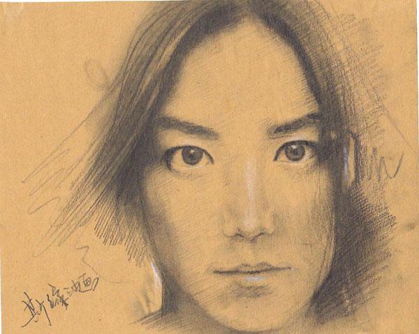 用铅笔画的人物画像 Powered by Discuz